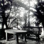 Kamienny stół w ogrodzie franciszkańskim we Lwowie