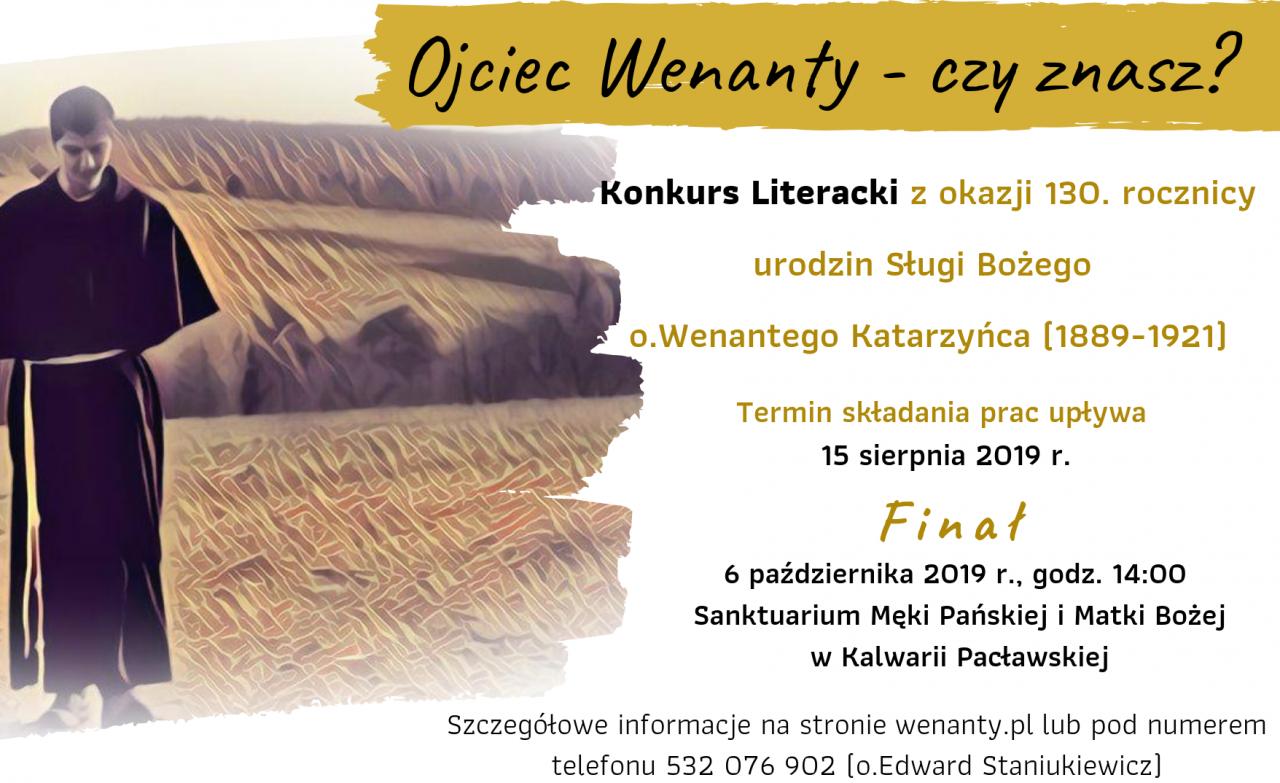 Konkurs Literacki O Ojcu Wenantym Katarzyńcu O Wenanty